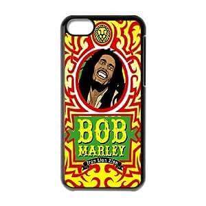 Clzpg Unique Design Iphone 5C Case - Bob Marley diy shell phone case