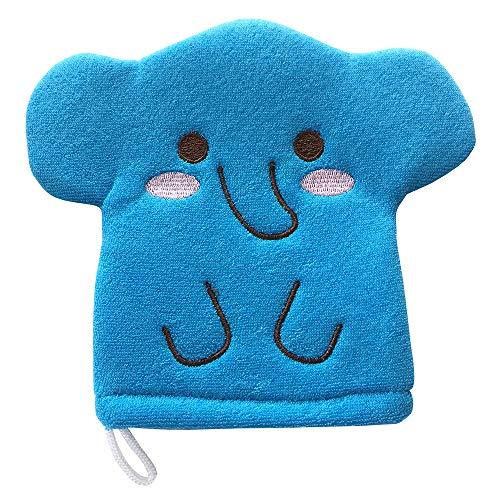 Blue Elephant Baby Bath Glove Hand Puppet Mitt Bath Toys Wash Cloths Scrubber by Furocco Bath Talk (Image #2)