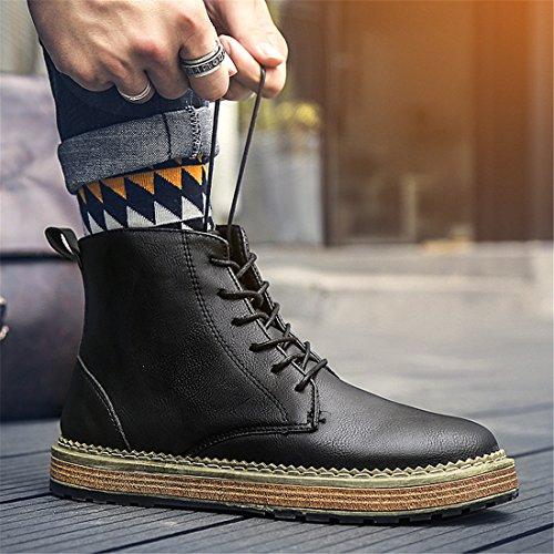Botines De Tobillo Martin Para Hombre Con Cordones, Botines De Combate Con Cordones, Zapato De Invierno 1867 Marrón