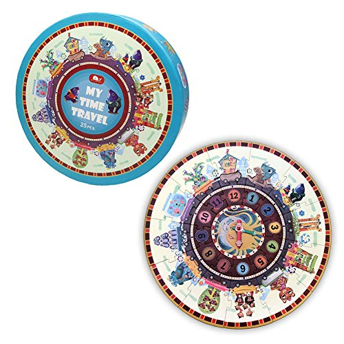 (Numbers My Time Travel Round Floor Puzzle for Kids Age 3+ Grown Up Puzzles for Children (25Pcs,20In Diameter))