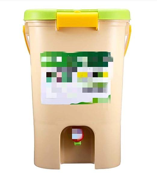 LAJITONGLJX Bote de Basura Compost Papelera Reciclaje Compost ...