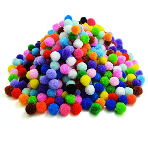 - BronaGrand Pompoms for Craft Making and Hobby Supplies 0.5 Inch, 500 Pieces, Assorted Colors
