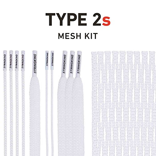 String King Type 2s Semi-Soft Lacrosse Mesh Kit with Mesh and Strings (White) (Best Soft Mesh Lacrosse)