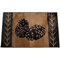 HiEnd Accents Pine Cone Kitchen Bath Lodge Rug, 24 36-Inch