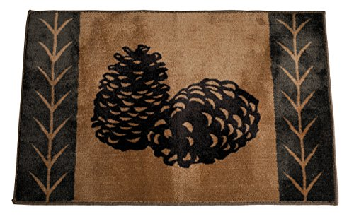 HiEnd Accents Pine Cone Kitchen and Bath Lodge Rug, 24 by 36-Inch