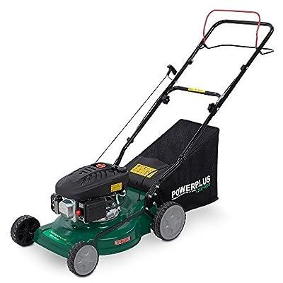 Powerplus 410mm (16), 3 in 1 Self Propelled 4 Stroke 98cc Petrol Driven Garden Lawn Mower with All Steel Deck POW63771 - 2 Year Home User Warranty by PowerPlus