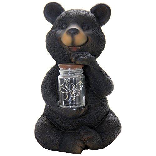 Solar Bear Light (Exhart 12075 Solar LED Bear with Jar of Fire Flies Garden Décor)