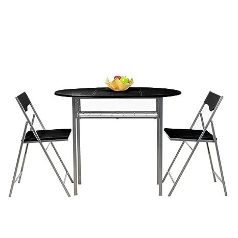 Fanilife, set tavolo e sedie pieghevoli da 3 pezzi, da cucina, in ...