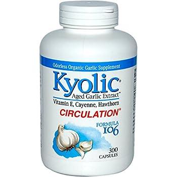 Kyolic - Formula 106 Aged Garlic Extract for Circulation ,300 Capsules