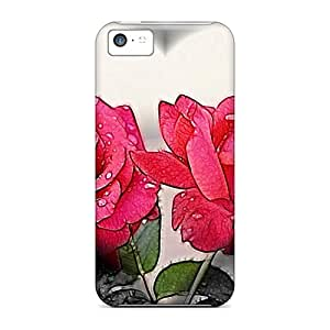 For Iphone 5c Premium Cases Covers Heart Roses Protective Cases