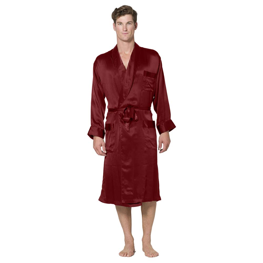 INTIMO Men s Classic Silk Robe at Amazon Men s Clothing store  5e634fe68