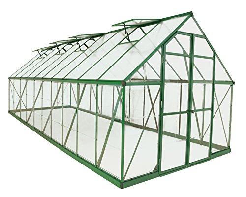 Palram Balance Hobby Greenhouse, 8′ x 20′, Green
