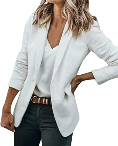 Fashion Star Womens Ladies Casual Plain Open Front Long Sleeve Cardigan Jacket Coat Blazer