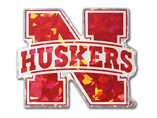 Huskers Decal - Nebraska Huskers Red NCAA Reflective 3D Decal Domed Auto Sticker Emblem