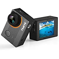 Action Camera, ThiEYE E7 Native 4K Wifi Sports action Video Camera Waterproof 14MP Ultra-HD 2 IPS Screen with EIS,APP Control,Panasonic Sensor,170 Wide Angle,Rechargeable Battery and Accessories