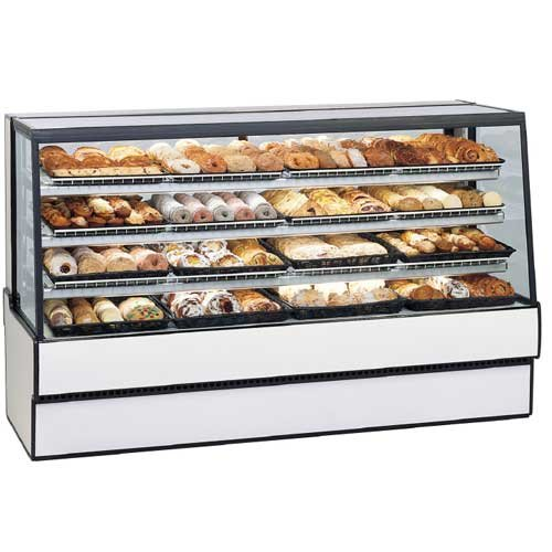 Federal SGD7742 Bakery Display Case, Non-Refrigerated, Tilt Out Sloped Glass, 77