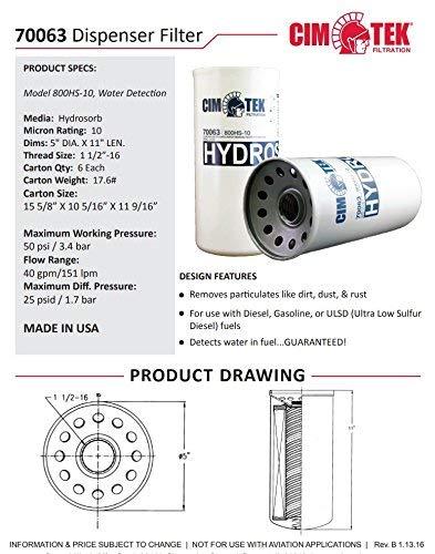 Cim-Tek 70063-6 800HS-10 Spin-On Filter 6-Pack by Cim-Tek (Image #1)