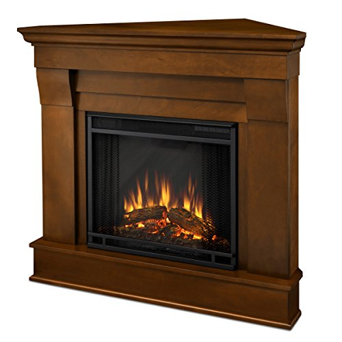 Real Flame 5950E Chateau Corner Electric Fireplace, Small, Espresso (Unit Corner Gas Ventless Fireplace)