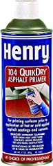 Quick-dry asphalt spray primer, series: 104Q, 17 oz, aerosol can packing, 550 G/L VOC, liquefied gas, Black, 50 - 125 sq.-ft coverage, petroleum distillates odor/scent, -138 deg F flash point, composition: petroleum asphalt, solvent Naphtha, ...