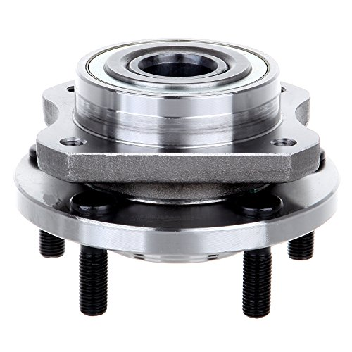 (ECCPP Wheel Hub and Bearing Assembly Front 513123 fit 1996-2007 Plymouth Voyager Chrysler Dodge Caravan Replacement for 5 lugs wheel hubs no ABS 4 Bolt)