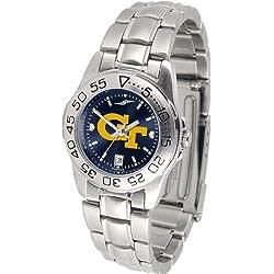 Linkswalker Georgia Tech Yellow Jackets Ladies' Sport Steel Anochrome Watch