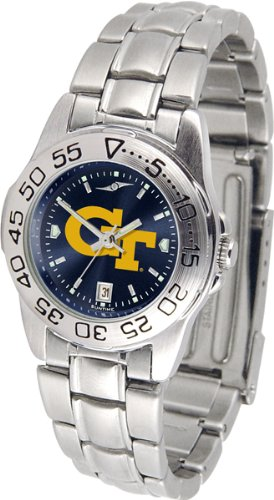 Yellow Jackets Sport Steel Watch - New Linkswalker Georgia Tech Yellow Jackets Ladies' Sport Steel Anochrome Watch