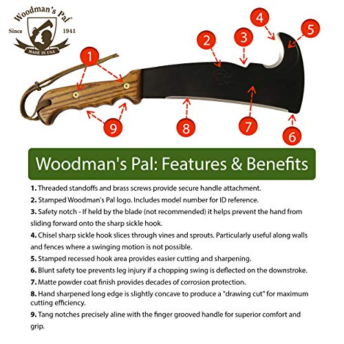 Woodman's Pal 2.0 - Multi-Use Axe Machete with Sheath - Survival Machete Ideal for Camping, Fishing, Hunting, Bushcraft - Perfect Brush Axe for Surveying by Woodman's Pal (Image #1)