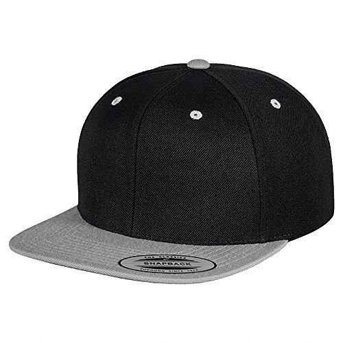 tonalidades Snapback Modelo Yupoong Gorra Clásica 2 plana Negro Plata xtqxwIYv