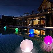 Newooh Luzes flutuantes de piscina infláveis à prova d'água, globo de luz noturna de LED, decoração de fes