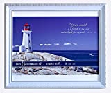 Canvas Art Wall painting with wood frame display bible verse (Psalm 119:105)