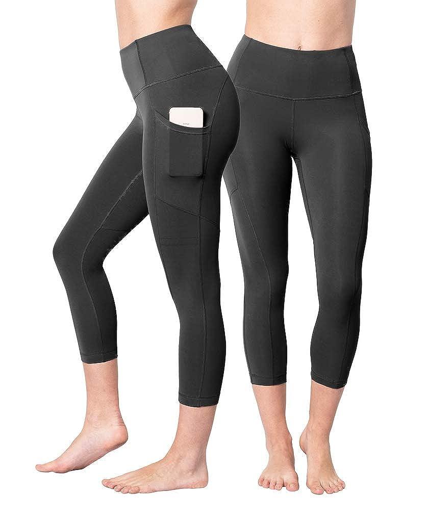 Black With Pocket 2 Pack Yogalicious 22  High Waist Yoga Capris  Yoga Leggings  Yoga Capris for Women