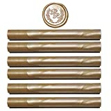 Champagne Gold Sealing Wax Sticks - Glue Gun Sealing Wax Sticks - 6 Pack Wax Seal Sticks - Wedding Wax Seals -...