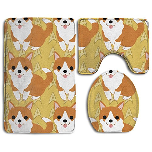 12' Vinyl Magnet Set (Cute Pugs In My Pocket Non-Slip Bathroom Bath Mat Rug Set, 3 Piece Bath Set Pedestal Rug + Lid Toilet Cover + Bath Mat Decoration 3 Sets Perfect For Bath, Tub, And Shower)