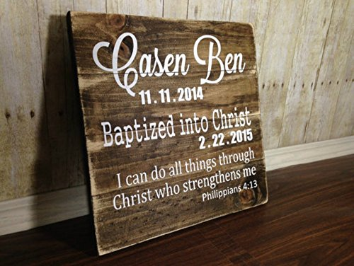 Baptism wood sign/ dedication wood sign / baptism decor /baptism gift / dedication gift /dedication decor /rustic baptism /rustic dedication