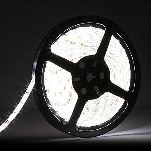 UPC 711420454853, LEDMO 5630 Flexible Led Strip, Daylight 300pcs SMD 5630LEDs 16.4Ft DC12V Waterproof IP65 25Lm/LED,2 times brightness than SMD5050 LED Ribbon, LED Tape Light