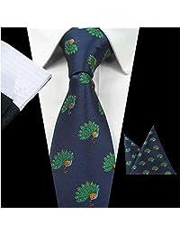 Z-P Mens Beautiful Peacock Luxury Elegant Necktie Jacquard Skinny Microfiber Tie