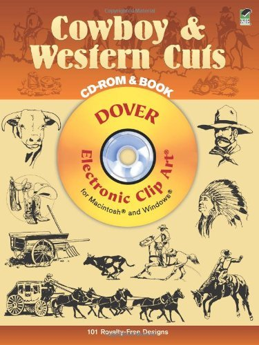 Western Cowboy Clipart (By Dover Cowboy & Western Cuts: Electronic Clip Art for Macintosh and Windows (CD-ROM and Book) [Paperback])