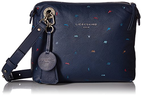 Crossbody Ink Arielle Women's Blue Leather Liebeskind Embroidered Berlin qnzREw7X7