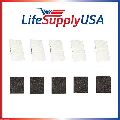 5 Complete Sets for Honeywell HRF-ARVP True HEPA Filter Value Combo Pack (10 HEPA filters and 5 Pre-filters) HPA090, HPA100, HPA200, HPA300 by LifeSupplyUSA