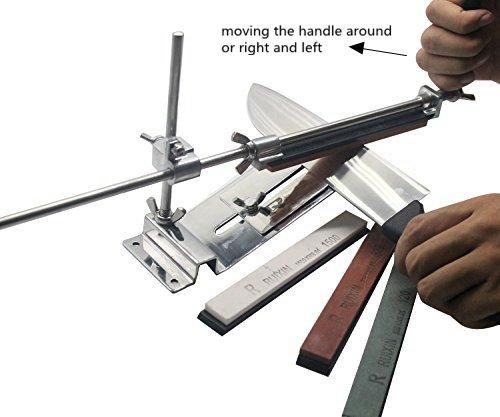 Elegant HiCollie Profi Messerschärfer Küche Knife Messerschleifer Fixed  Winkel Sharpener Mit 4 Schleifsteinen: Amazon.