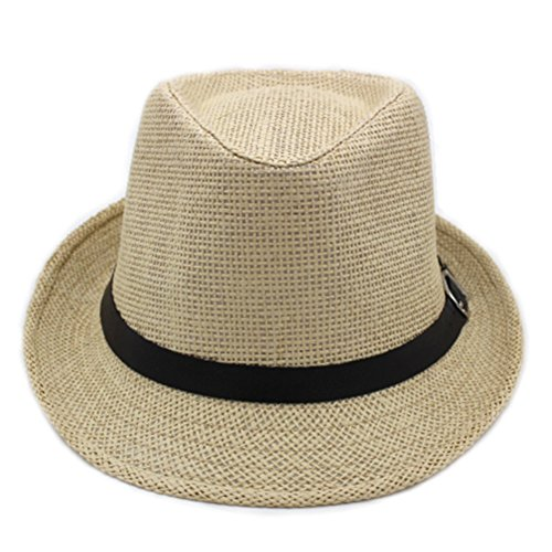 Korean version of outdoor sun hat/Couple Cap/British men and women casual sun hat/Jazz hats/ Tide spring and summer straw hat-D One Size