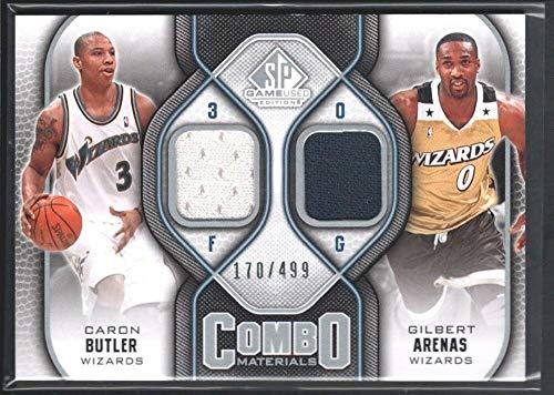 (Gilbert Arenas Caron Butler 2009/10 SP Game Used Combo Dual Jersey 170/499 SP)