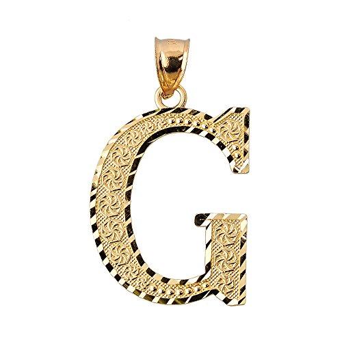 10 ct 471/1000 Initiale G Or Pendentif