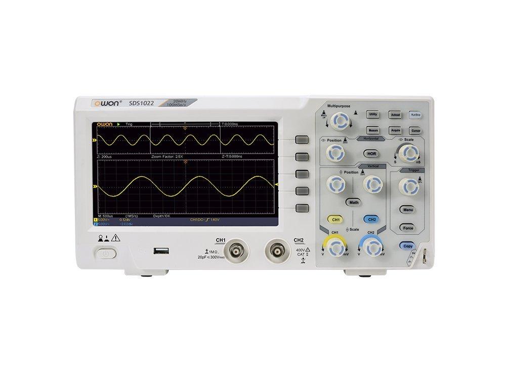 OWON SDS1022 20Mhz 100MSa/s 10K 2 channel Digital Storage Oscilloscope