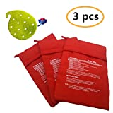 3 Pack of Reusable Microwave Potato Cooker Potato Pouch Cooker Microwave Potato Cooker Bag, And 1 Pack Vegetable Scrubber Brush