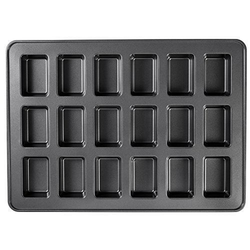 Wilton Perfect Results Premium Non-Stick Bakeware Mini Loaf Pan, 18-Cavity (Mold Bread Round)