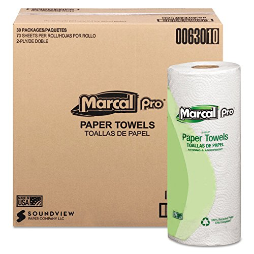 Marcal(R) Sunrise Roll Towels, 80 Sheets/Roll, Case Of 30 Rolls -  630