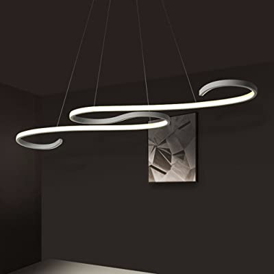 ZZ Joakoah Moderne LED Suspension,Design Lustre LED Pendentif Éclairage Luminaire de Plafond réglable en hauteur, pour Cuisine, Salle À Manger, Salon, Chambre D'enfants et de Restaurant