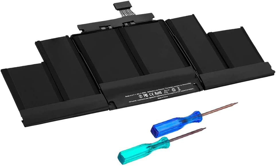 Runpower New A1417 Laptop Battery for MacBook Retina Pro 15 A1398(Mid 2012-Early 2013) ME665LL/A ME664LL/A MC975LL/A MC976LL/A MD831LL/A