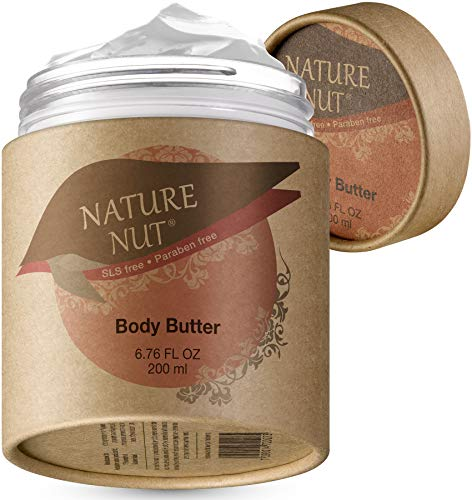 51MjdLHMHFL - Body Butter Cream Skin Moisturizer - Anti Aging Tightening and Firming Body Lotion for Dry Skin with 5 Nut Hydration Boost Skin Glow Formula